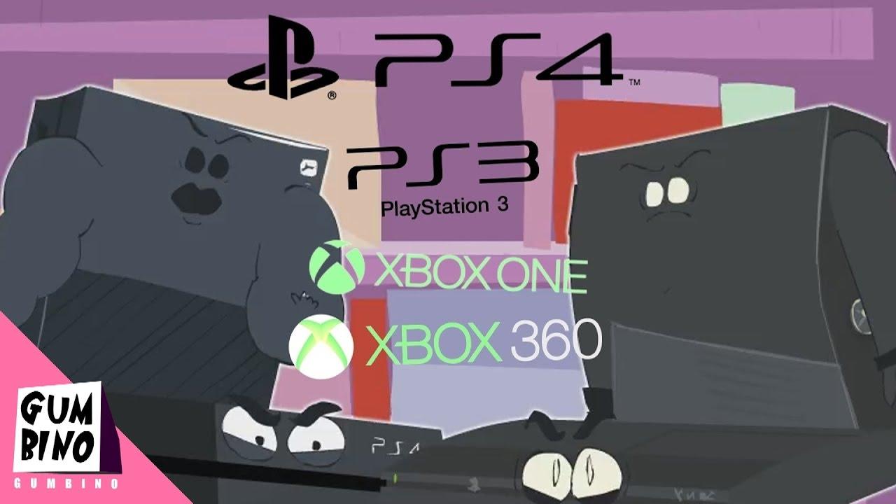 Xbox One vs Ps4 vs Xbox 360 vs Ps3 - YouTube Xbox One Vs Ps4 Vs Wii U Vs Ouya