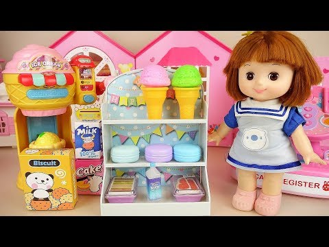 Mart and baby Doll cash register play baby Doli house