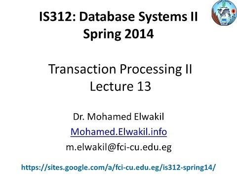 IS312 Lecture #13