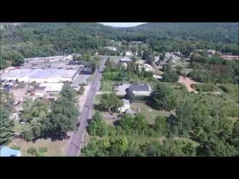 Hampden MA Drone Video: shopping area
