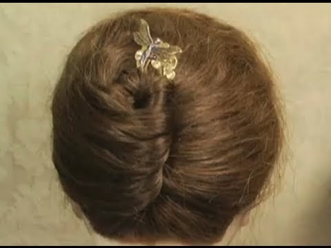 Using A Hair Pin For A French Twist In Less Than A Minute Youtube