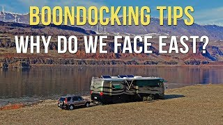 Why Do We Face East When We're Boondocking? 🧭