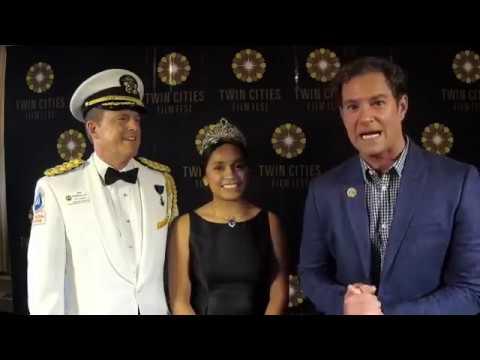 TCFF 2017 P Gala  Bill McReavy, Vanessa Gonzalez and host Douglas Sidney