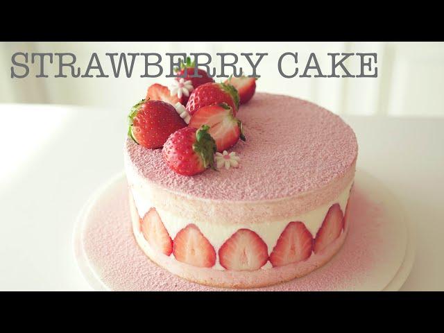 부드러운 딸기케이크 만들기 /How to make Strawberry Cake