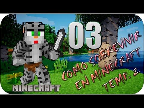 Como Sobrevivir en Minecraft T2 Cap3 - ¡¡¡ DIAMANTEEEEEES !!!