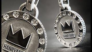 다이아몬드 16개 + 실버 크라운 펜던트 목걸이 디자인…