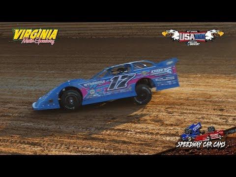 USA100 #17 Logan Roberson - Crate Late Model - 6-16-18 Virginia Motor Speedway - In Car Camera