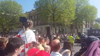 The Speech Before  Tommy Robinson. Day For freedom Whitehall