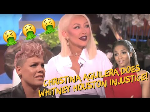 Whitney Houston Speaks to Christina Aguilera (w/ P!nk and Ciara)