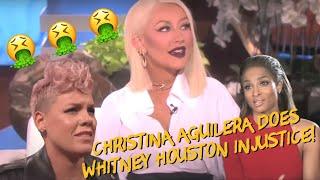 Whitney Houston Speaks to Christina Aguilera (w/ P!nk and Ciara)