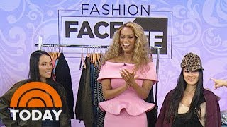 Tyra Banks and Sheinelle Jones Have A Frantic Fashion Face-Off  TODAY