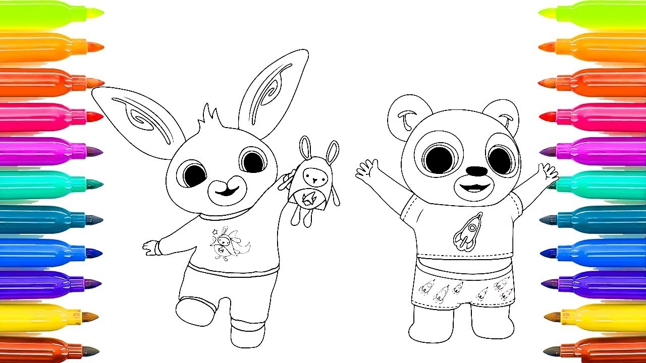 bing bunny colouring how to color bing bunny youtube
