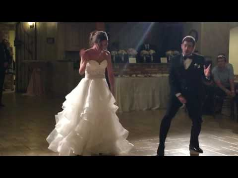 Bride and her brother do epic 'Evolution of Dance' style dance to kick off the reception!