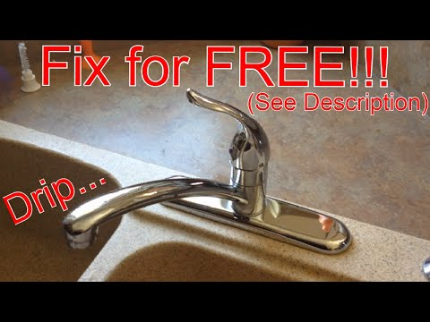 FAST leaky faucet fix!!! Moen 1225 cartridge replacement. - YouTube