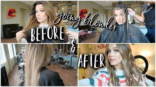 GOING BLONDER!! | HAIR SESSION #2