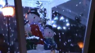 눈내리는 크리스마스 트리 램프