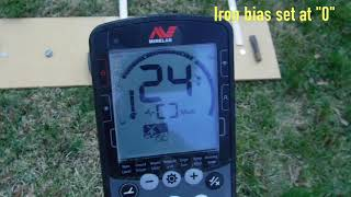 Iron Bias Test on the Equinox 800