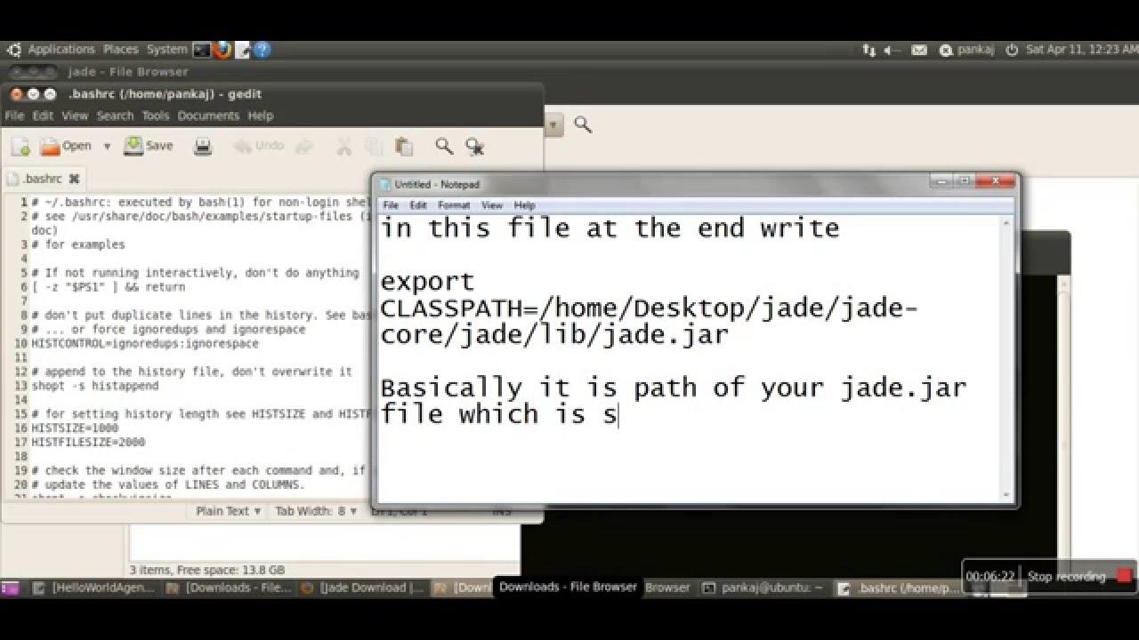 How to Run Jade(Java Agent Development Environment) First Time on Ubuntu