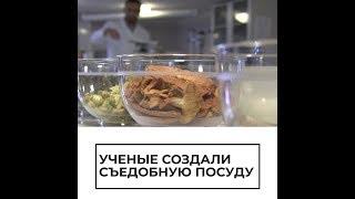 Ученые создали съедобную посуду