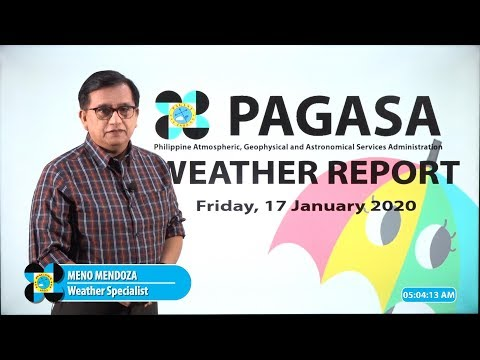 Public Weather Forecast Issued at 4:00 AM January 17, 2020