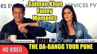 CRAZY Salman Khan All Funny Moments With Katrina Kaif At DA-BANGG Tour PUNE