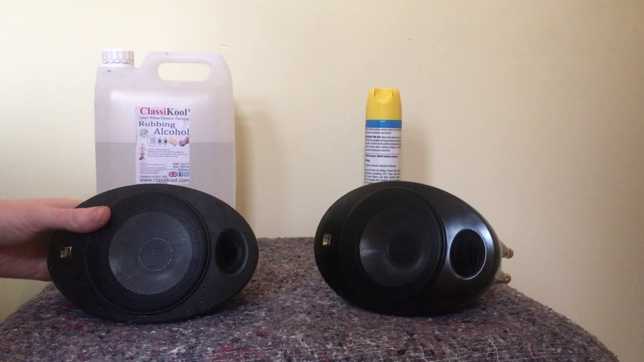 kef egg speakers. how to clean off the sticky coating on kef egg speakers kef