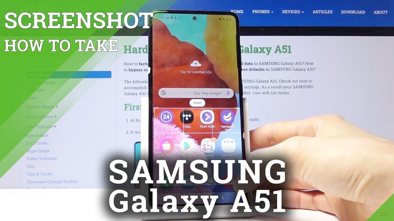 Samsung A51 Screenshot Machen