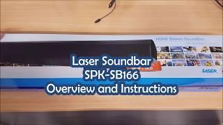 Laser Soundbar SPK-SB166 Overview and Instructions