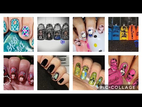 Stamping Nail Art Tutorial | Characters Facebook Group Collab | judinkanailart ✓ thumbnail
