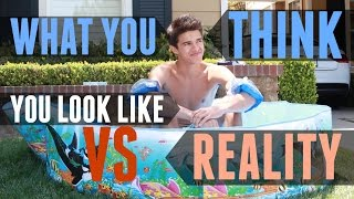 What You Think You Look Like VS Reality | Brent Rivera