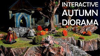 The Autumn Temple - How to Build a Cheap Diorama for Dungeons and Dragons (Simple Terrain)