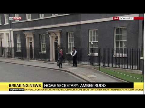 Amber Rudd, Home Secretary, leaving 10 Downing Street
