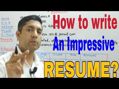How to Write a RESUME ? Resume Writing || Resume for Teachers