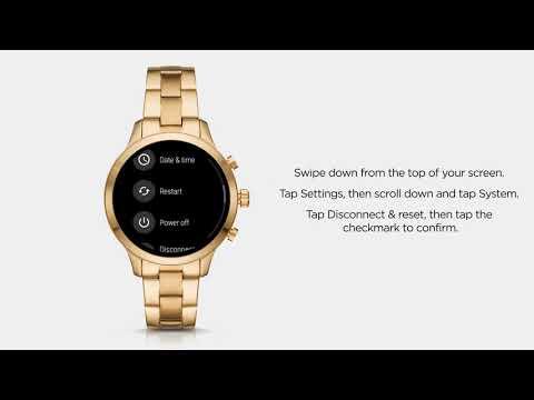 9a9414775d Michael Kors Access Runway Smartwatch | Disconnect & Factory Reset - YouTube
