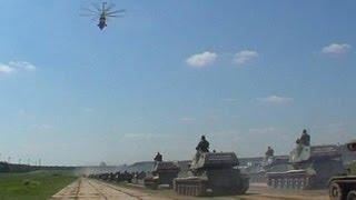 О том, как репетировали военный парад, видео, Минск