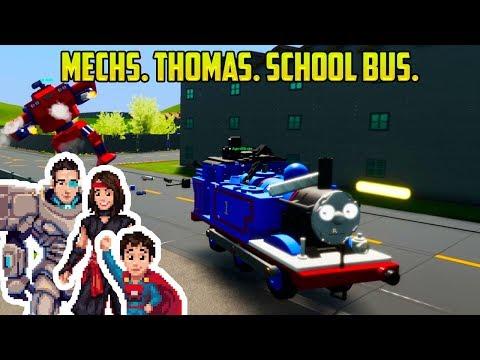 Cars For Kids | MECHS VS THOMAS! ALSO SCHOOL BUSES.