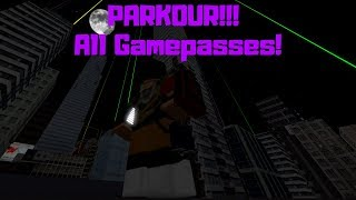 ROBLOX PARKOUR!!! ALL GAMEPASSES!!! [SHOWCASE]