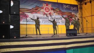 концерт учащихся сош 2 г Усть Джегуты 9 мая 2015 на площади