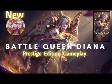 "New Battle Queen Diana Skin ""Prestige Edition"" - PBE Full Gameplay"