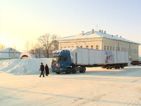 Новогоднюю ель отправили сегодня из Тотьмы в Симферополь