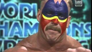 Road Warrior Hawk threatens to rape Ric Flair