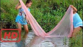 Удивительная Рыбалка В Провинции Пайлин - Традиционная Рыбалка В Камбодже - Рыболовная Сеть Кхмера