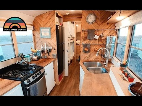 Family Of 4 Lives Full Time In This Gorgeous School Bus Conversion