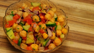 Chickpea salad - healthy recipe channel - vegan recipes - vegan protein - vegetarian recipe