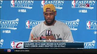 Lebron James' postgame press conference | Cavs-Celtics Game 4 | NBA Playoffs