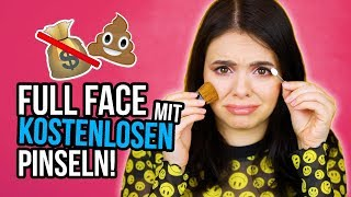 Ganzes Makeup nur mit KOSTENLOSEN Pinseln! :D 💸💩