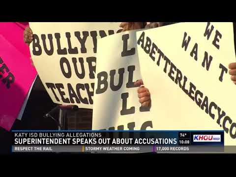 Katy ISD Superintendent speaks out after being accused of bullying