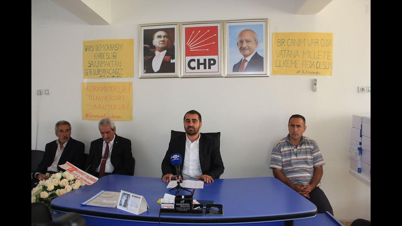 CHP Besni İlçe Başkanı Kılınç: