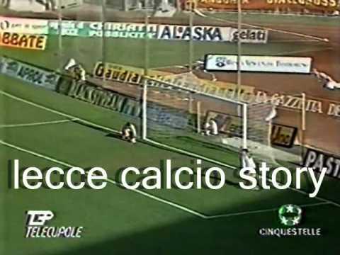 L'eurogol, del momentaneo vantaggio, di Paolo Baldieri in LECCE-Juventus 1 a 1 del 26 settembre 1993