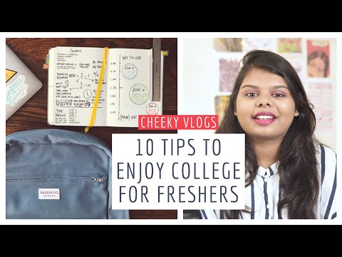 10 Tips To Enjoy College Life For Freshers   Cheeky Vlogs